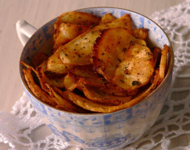 Chips selber machen Süßkartoffeln Rezept