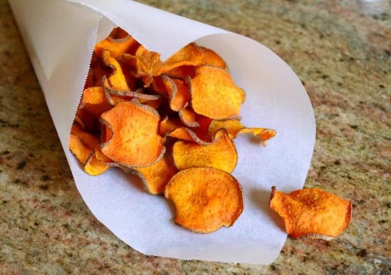 Chips Rezepte Süßkartoffeln