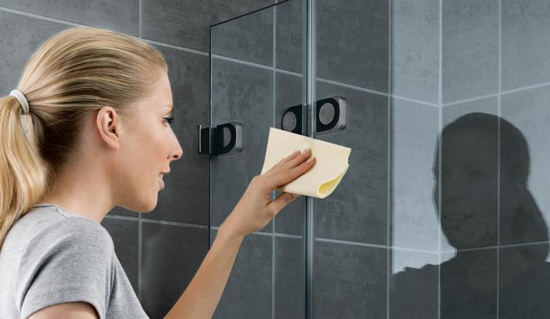 Duschkabine putzen Glastür