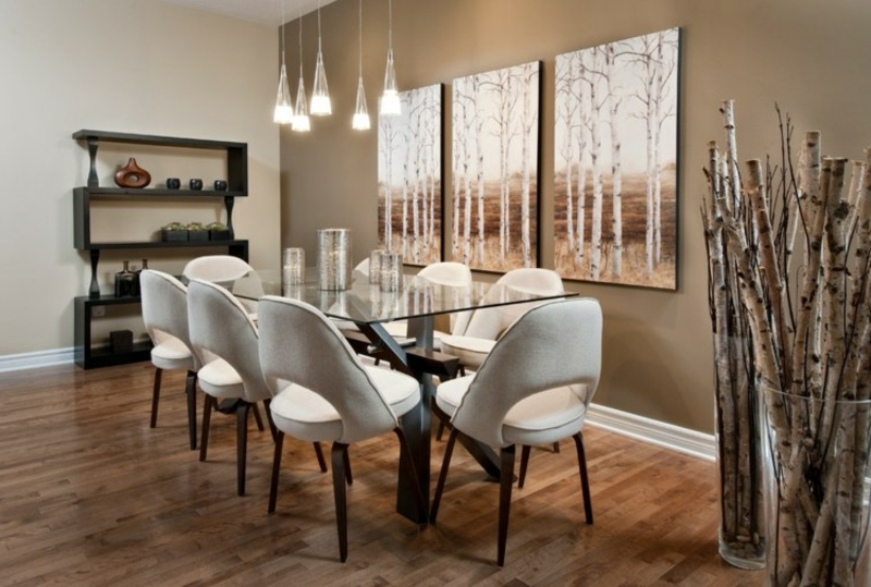 Birkenstamm Deko sehr stilvoll Wohnzimmer