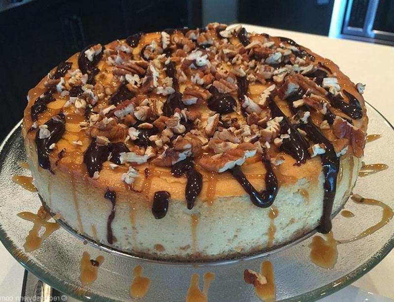 Cheesecake Karamell Nüsse