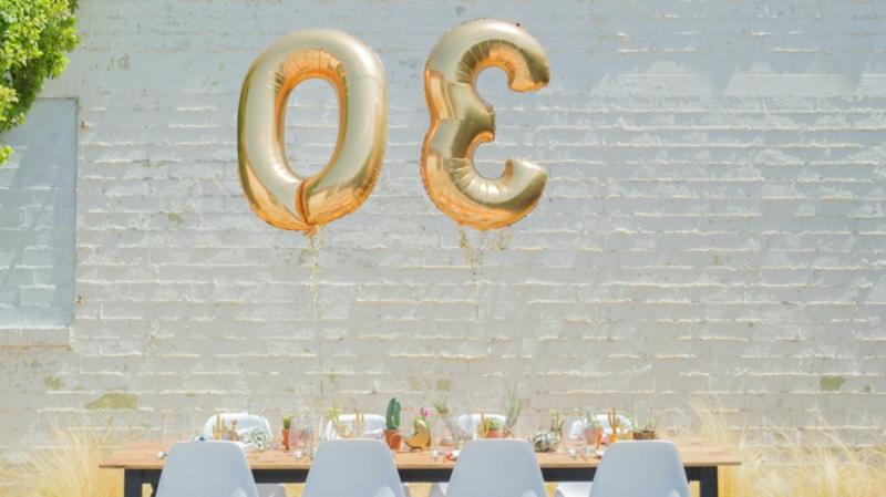 Tischdeko für Geburtstag 30 Jahre