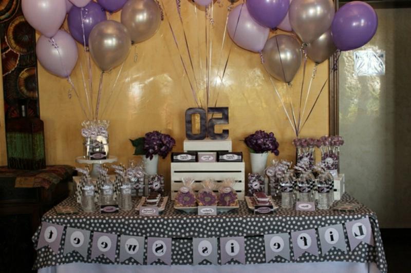 Tischdeko für Geburtstag Buffet