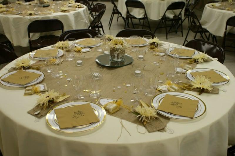 Tischdeko für Geburtstag sehr stilvoll