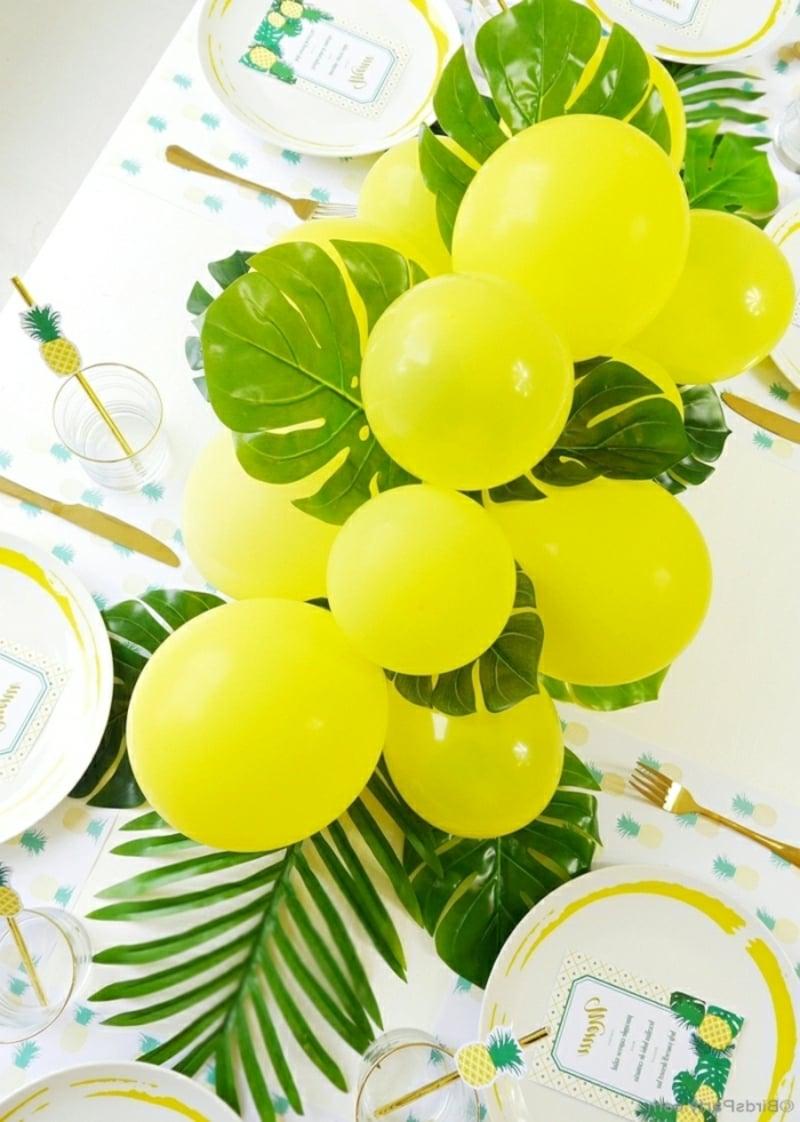 Tischdeko für Geburtstag Girlande