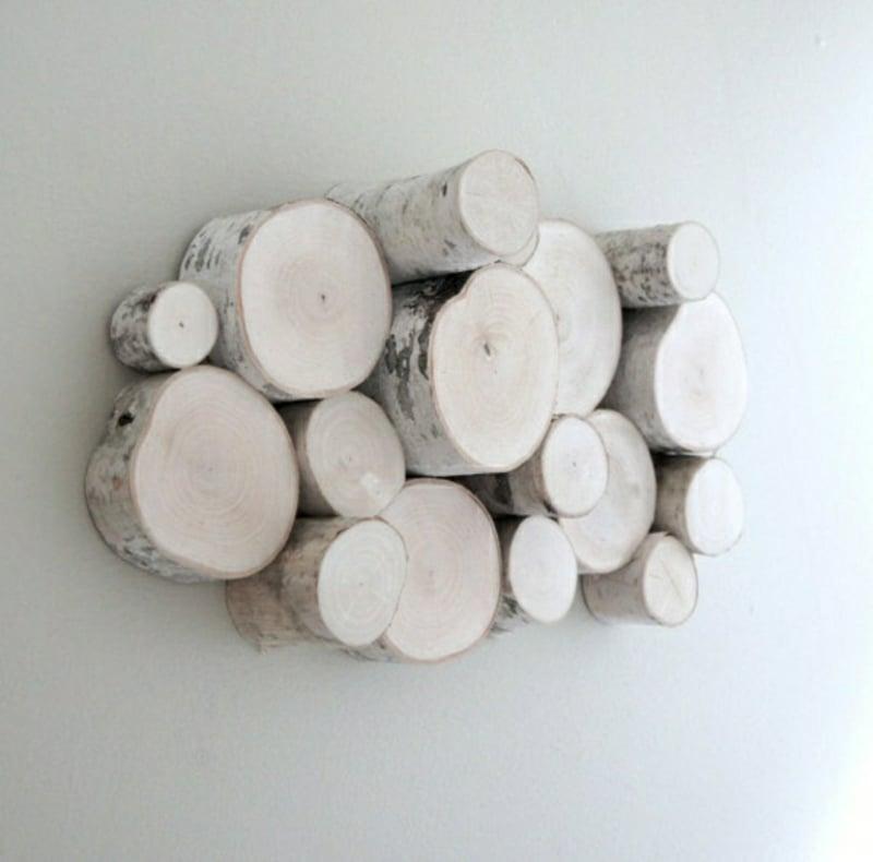 Birkenstamm Deko Holzscheiben