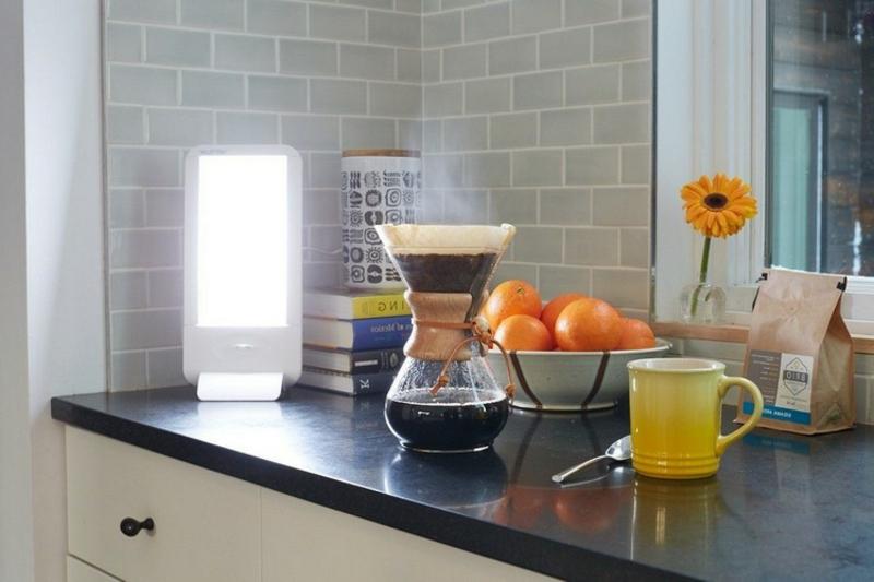 Winter Küche Tageslichtlampe