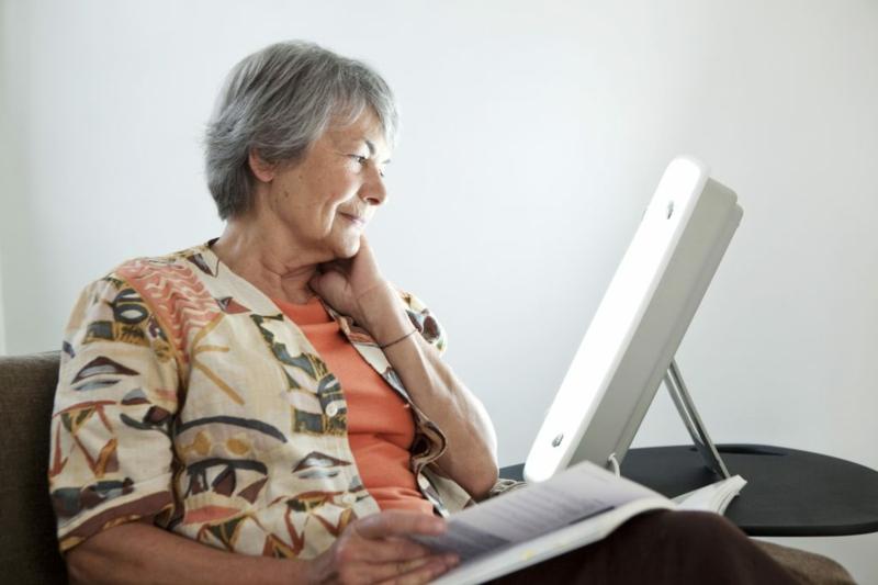 Lichttherapie-Lampe gegen Demenz