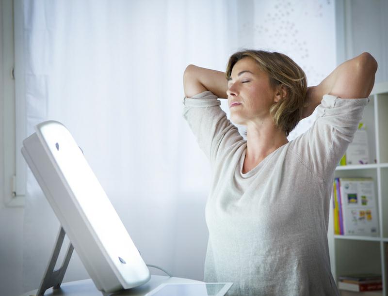 Lichttherapie-Lampe bei schlechter Laune