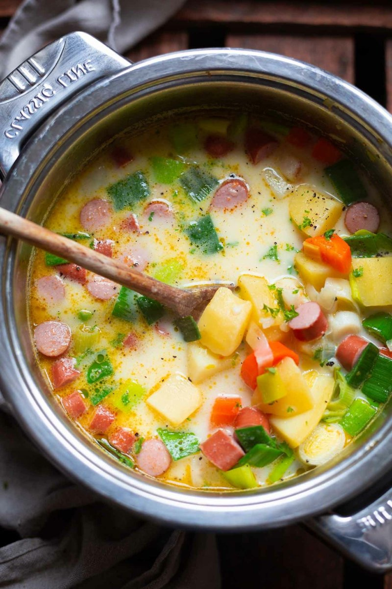 Kartoffelsuppe kochen