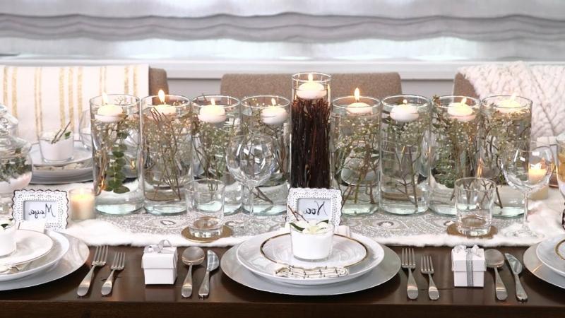 Tisch dekorieren Windlichter