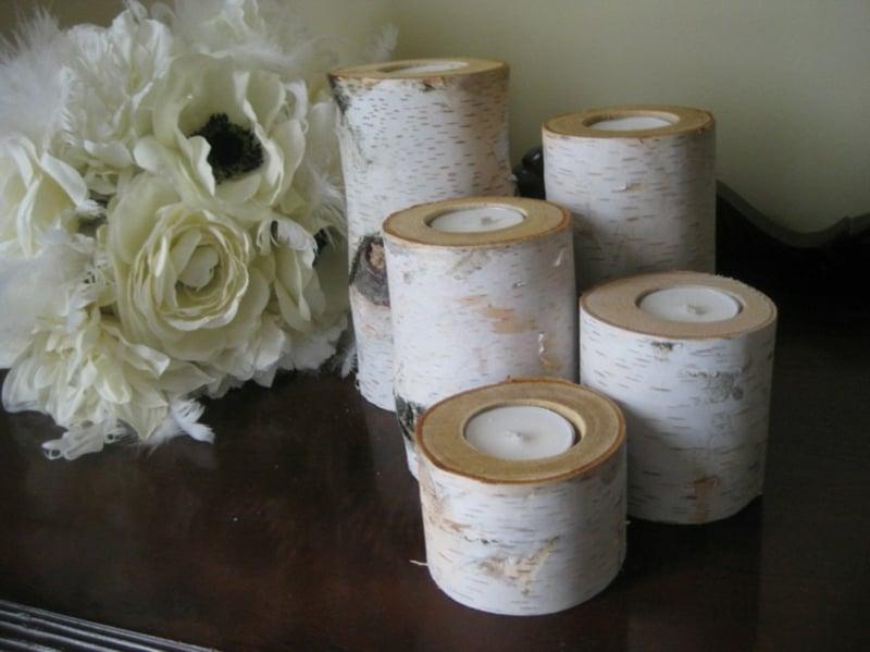 dekorative Kerzenhalter selber machen
