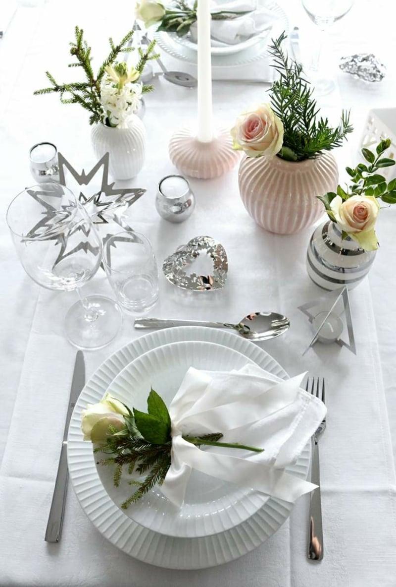 Tischdeko für Geburtstag Winter