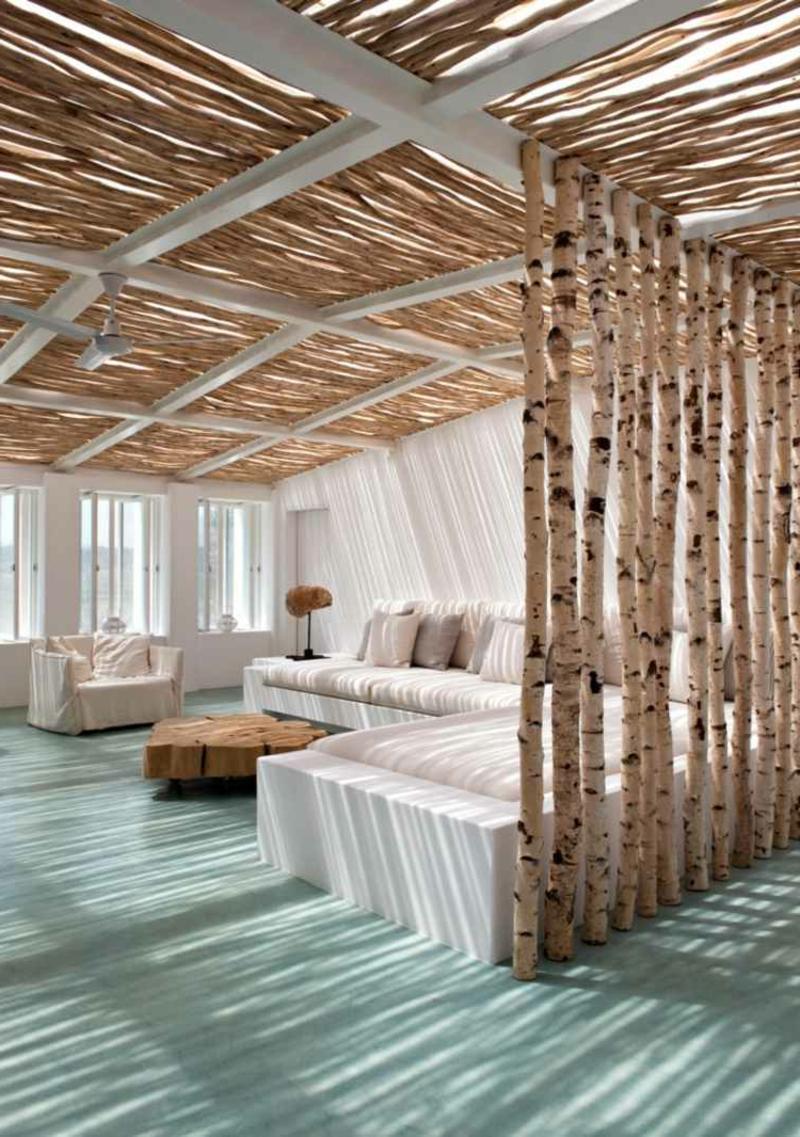Trennwand DIY Birkenholz