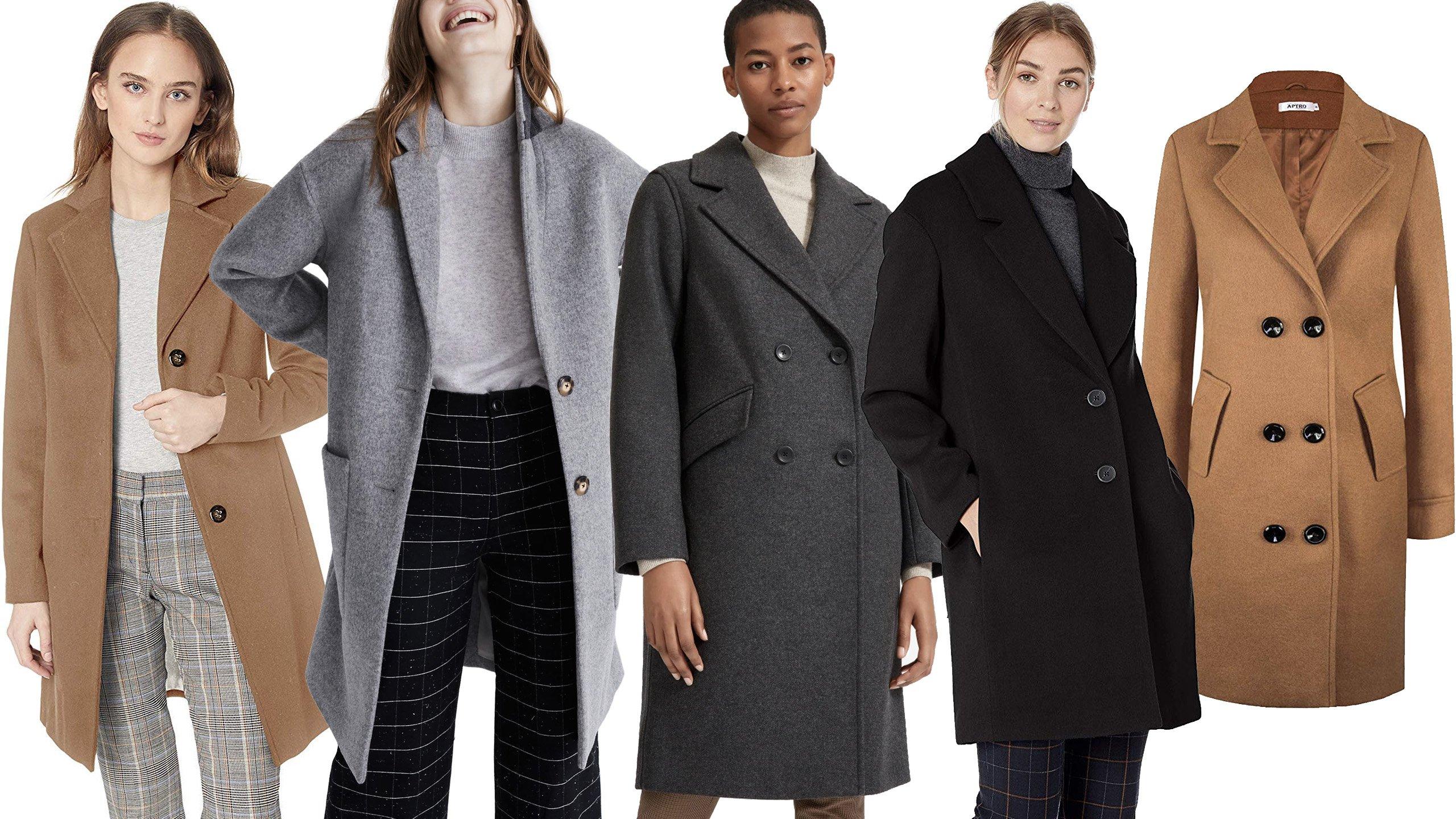 Auswahl an Damen Mantel - Wollmantel