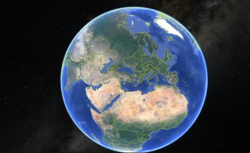 rund um die Welt reisen Google Earth