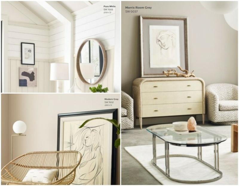 Wandgestaltung Weiß und Grau