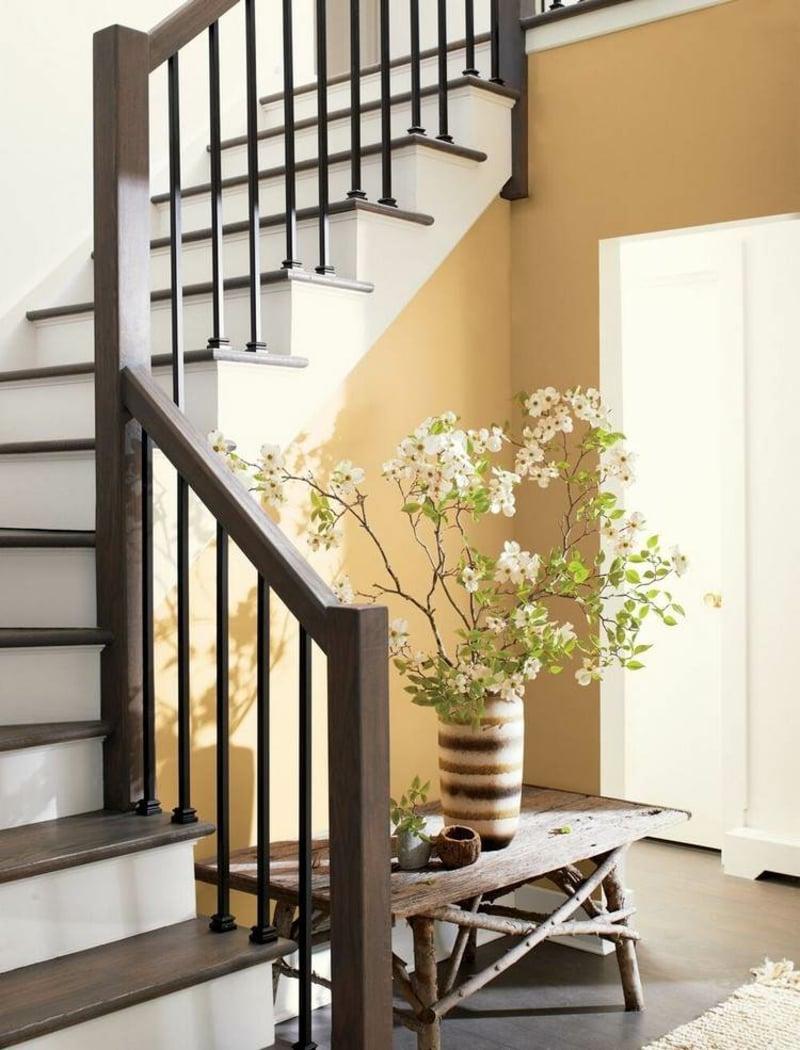 Wandgestaltung stilvoll Warmfarben