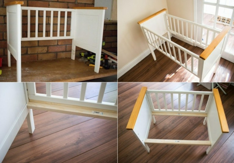 Babybett umgestalten Anleitung