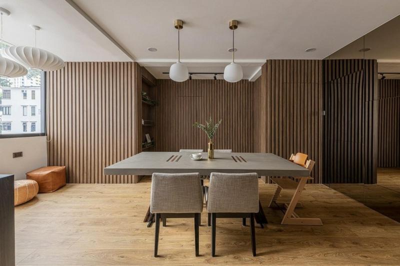minimalistisches Esszimmer Japandi Wohntrend