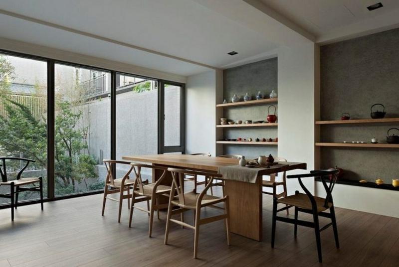 Japandi Möbel klare Linien offene Regale