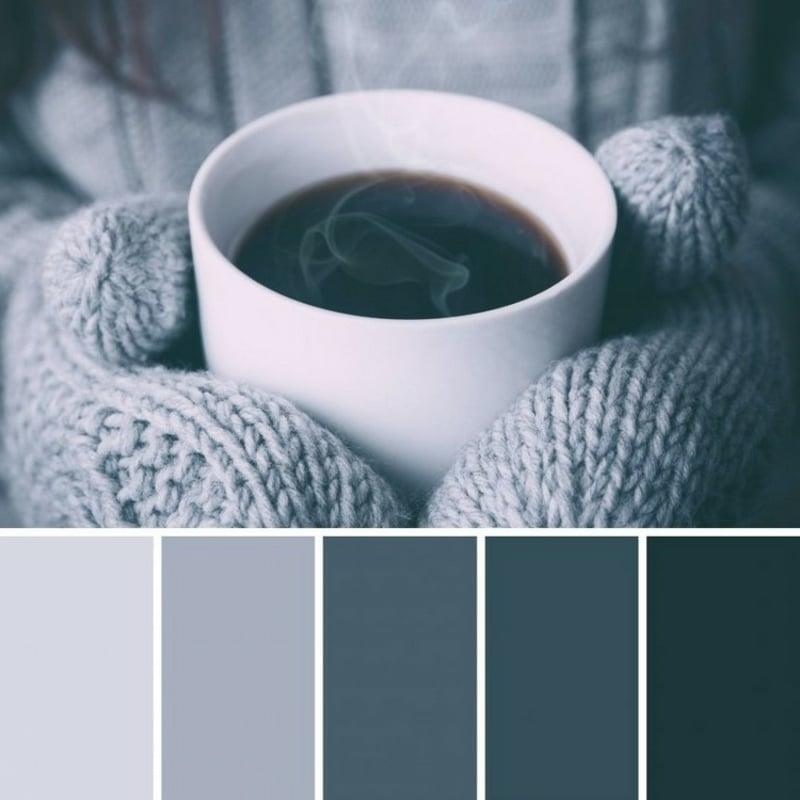 Japandi Wohntrend Farbpalette dunkel
