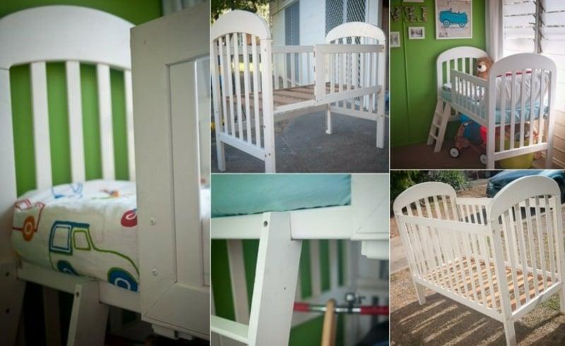 Babybet ins Etagenbett verwandeln