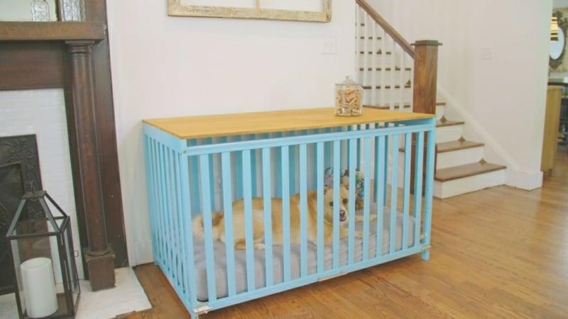 Babybett umgestalten Hundebett