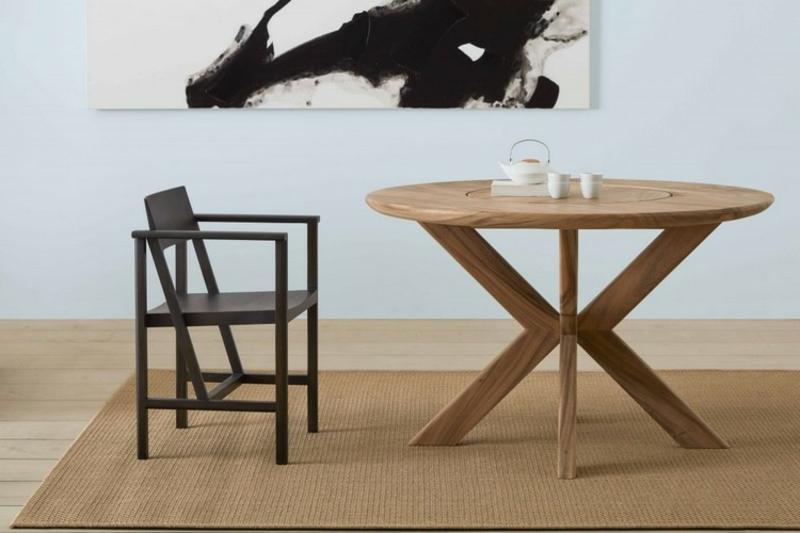 Sitzecke wunderschöne Holzmöbel Japandi Wohntrend