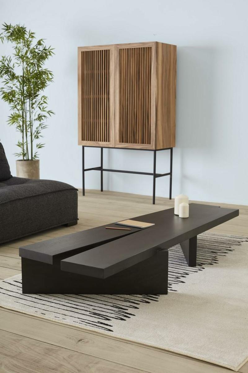 stilvolle Holzmöbel Japandi Wohntrend modern