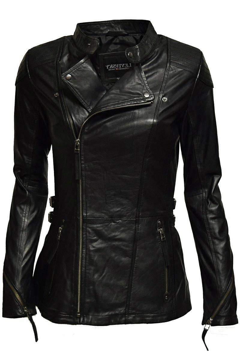 Lederjacke für Damen schwarz
