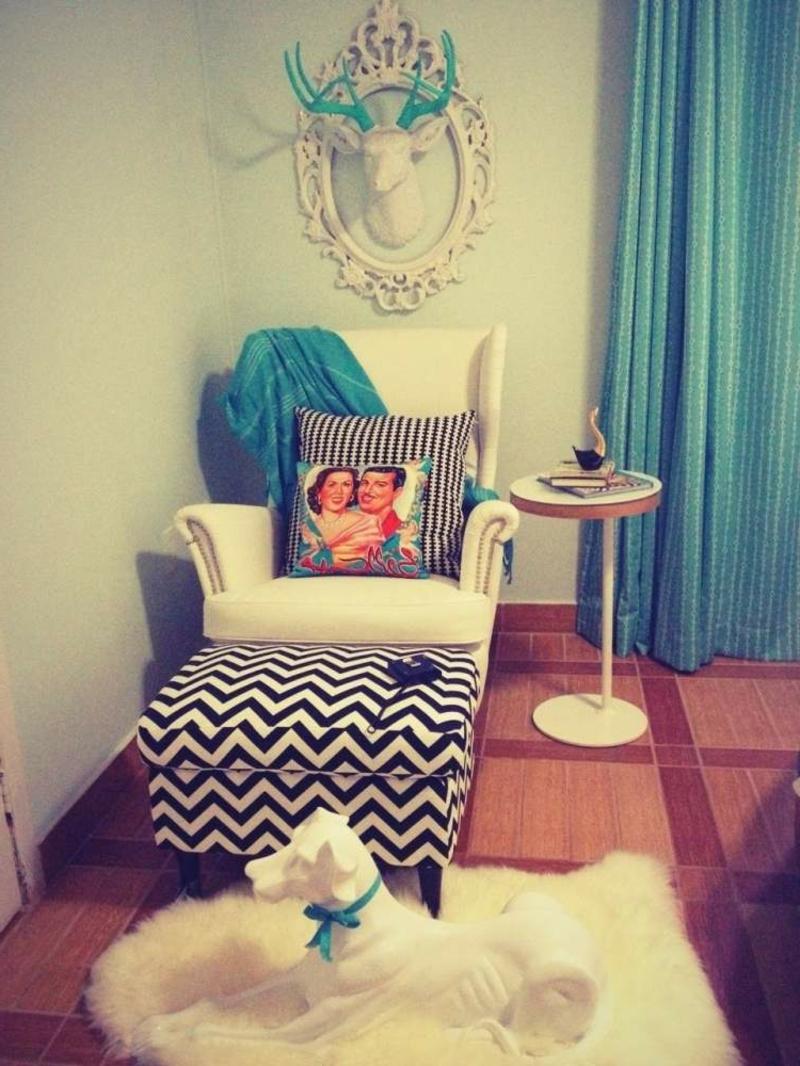 Vintage Sessel weiche Sitzkissen
