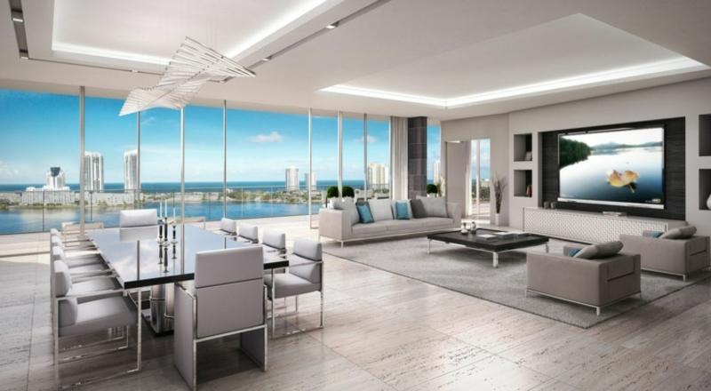 minimalistisches Wohnzimmer sehr modern