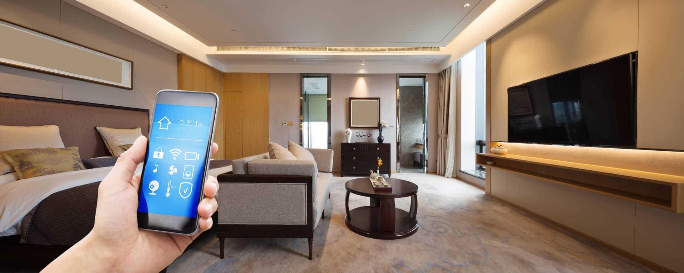 intelligentes Wohnsystem Bedienung Handy