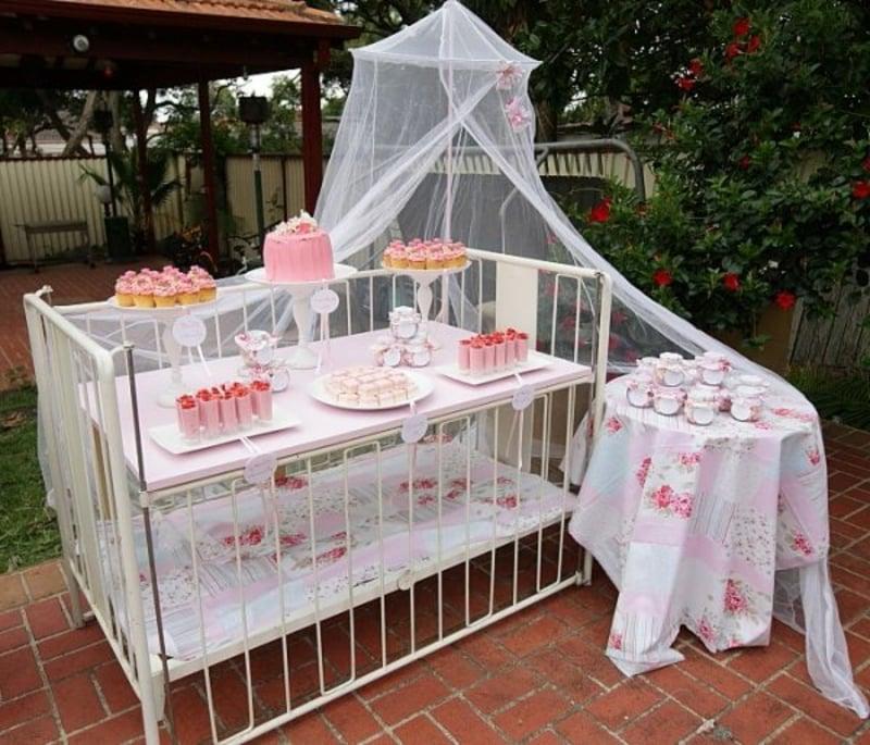 Beistelltisch Babybett Party-Buffet