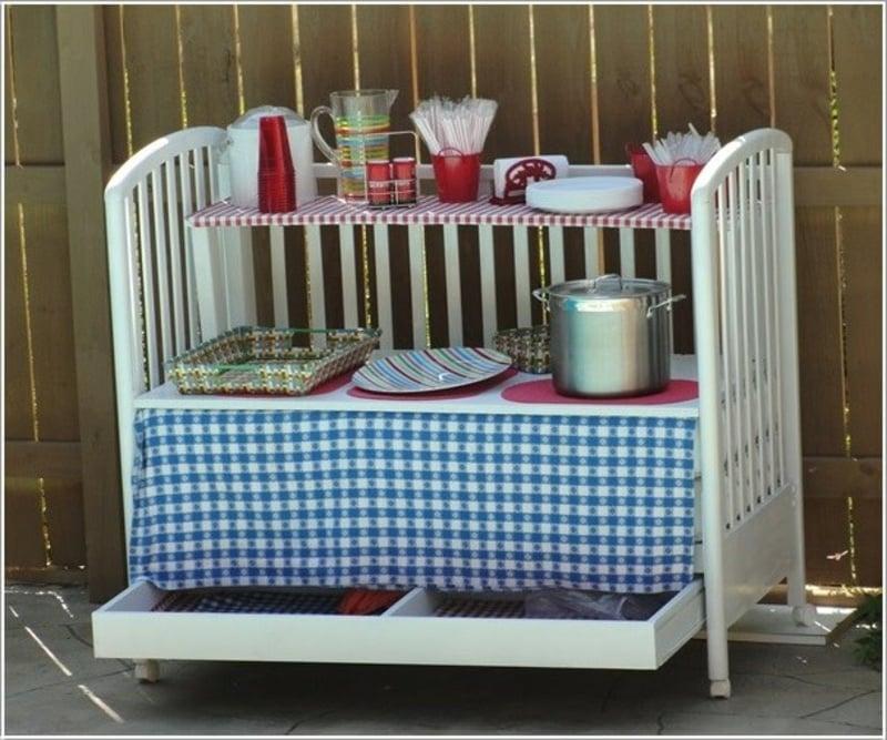 Beistelltisch DIY Babybett