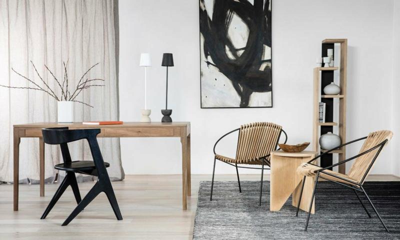 stilvolle Holzmöbel Japandi