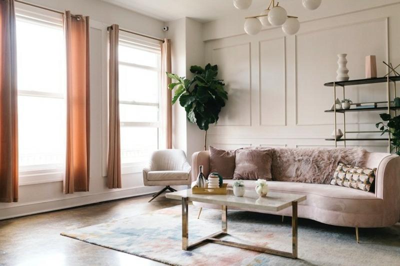 Wohnzimmer neurale und pastellige Farben
