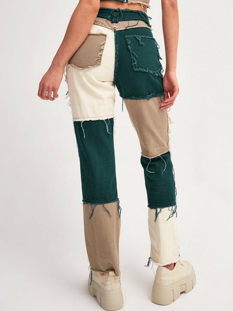 Patchwork Jeans interessante Farben
