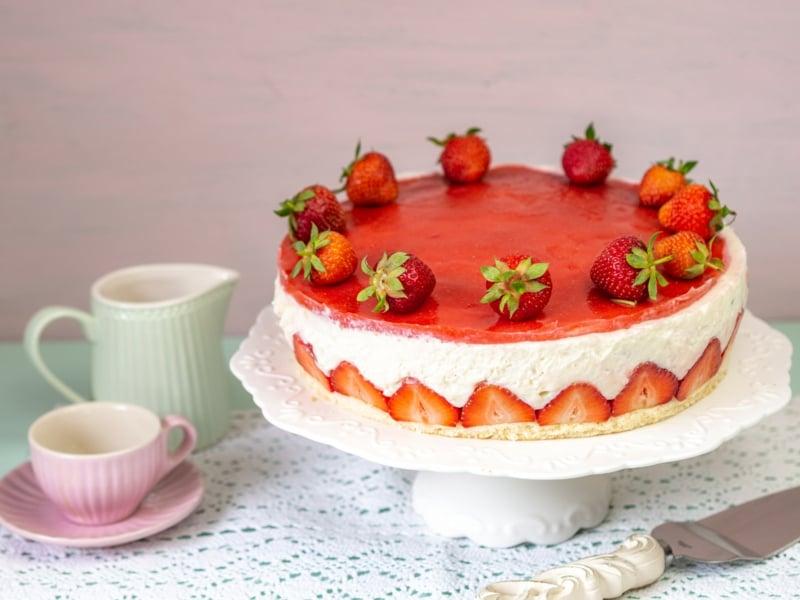 Erdbeer Cheesecake ohne Backen