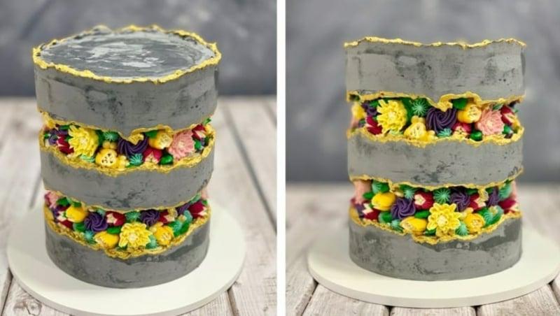 Fault Line Cake selber dekorieren
