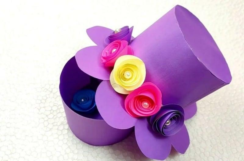 Zylinder aus Papier selber machen