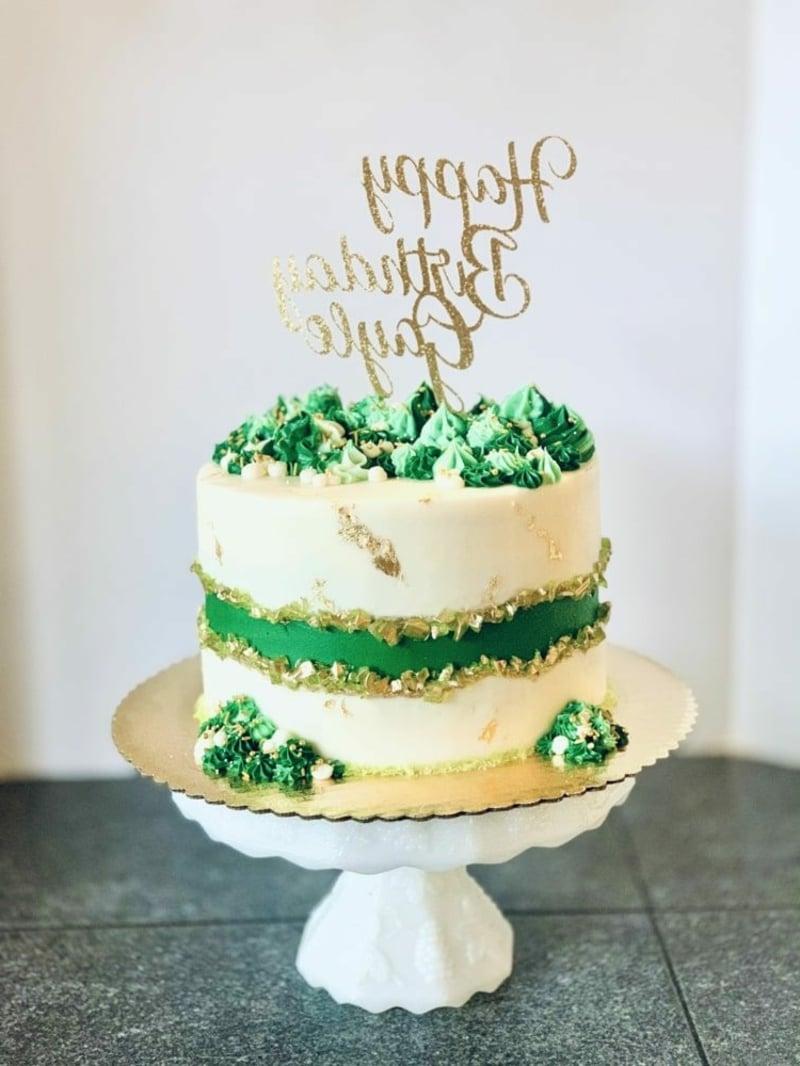 Fault Line Cake weiß und grün