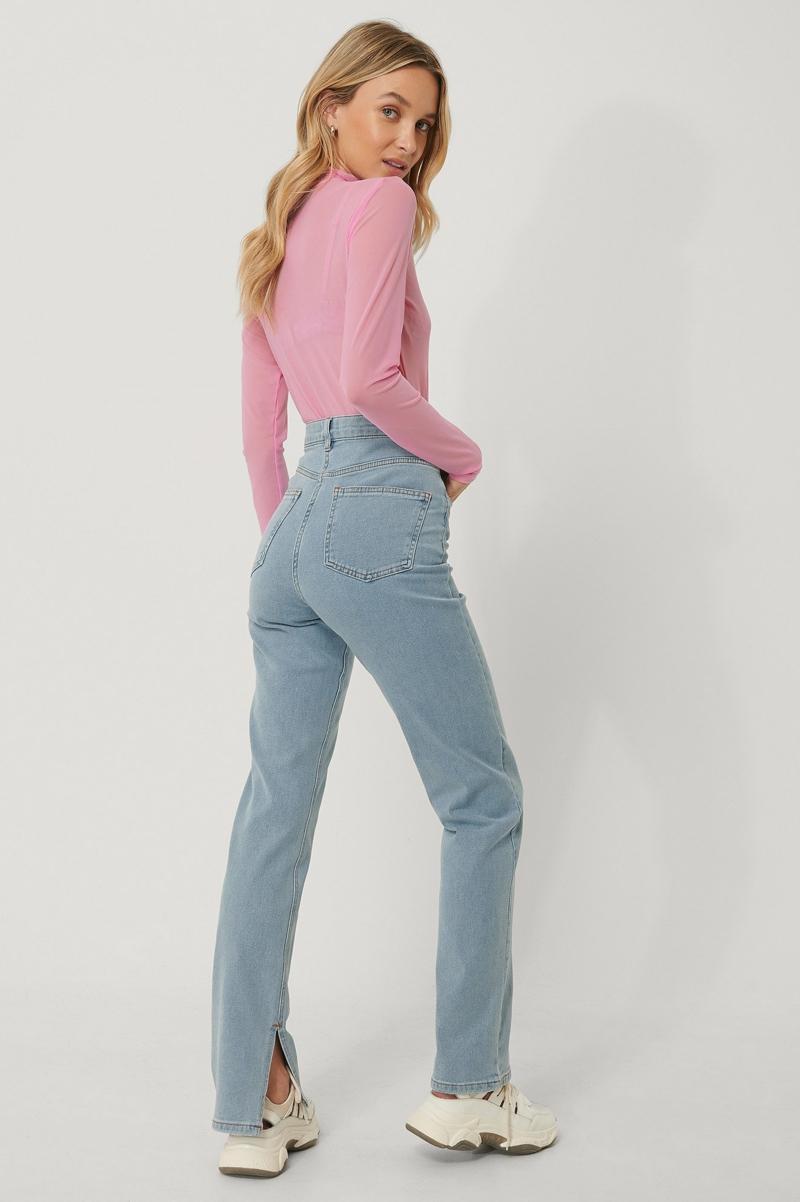 geschlitzte Jeans Frau