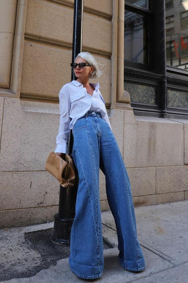 High Waist Jeans sehr weit