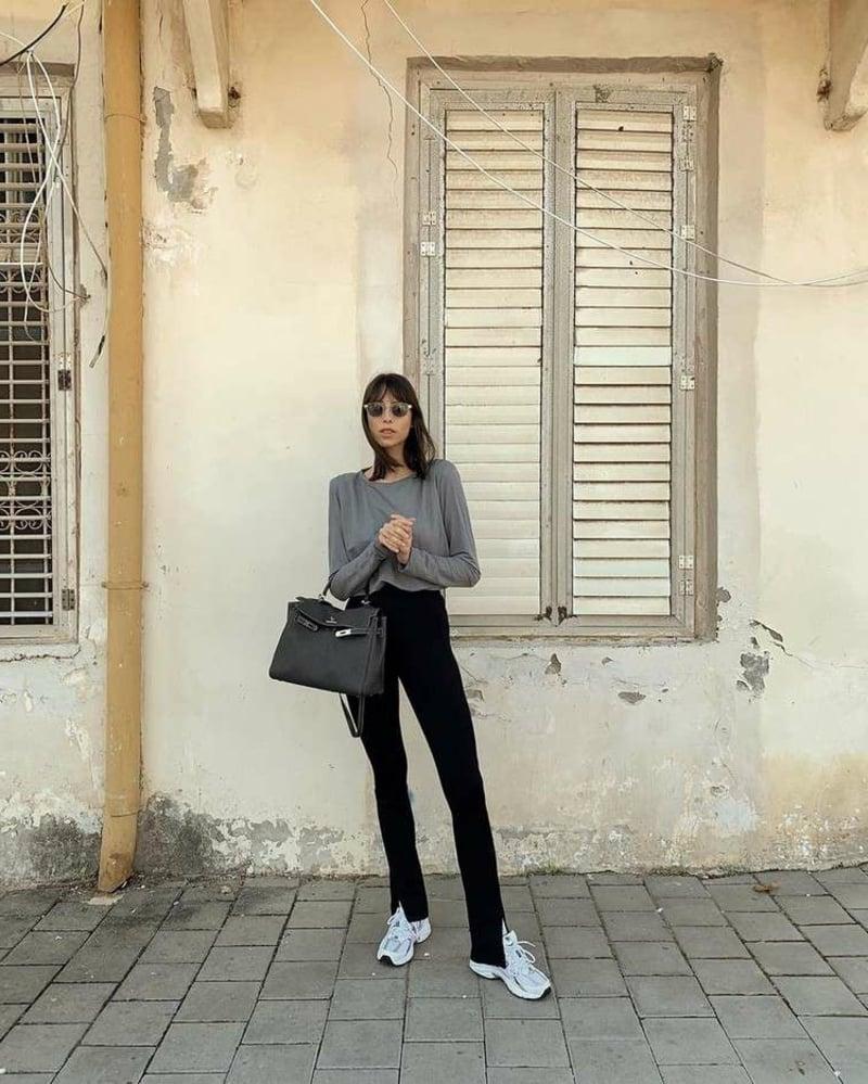Business Casual Outfit geschlitzte Hose