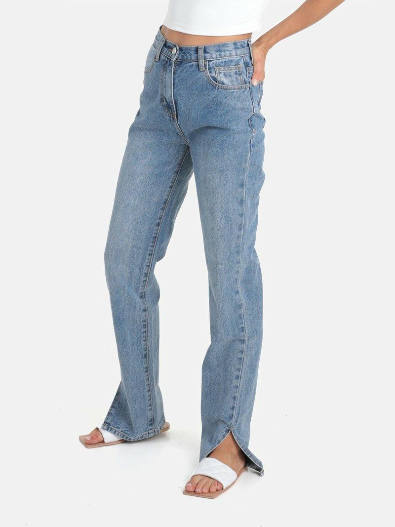 geschlitzte Jeans casual