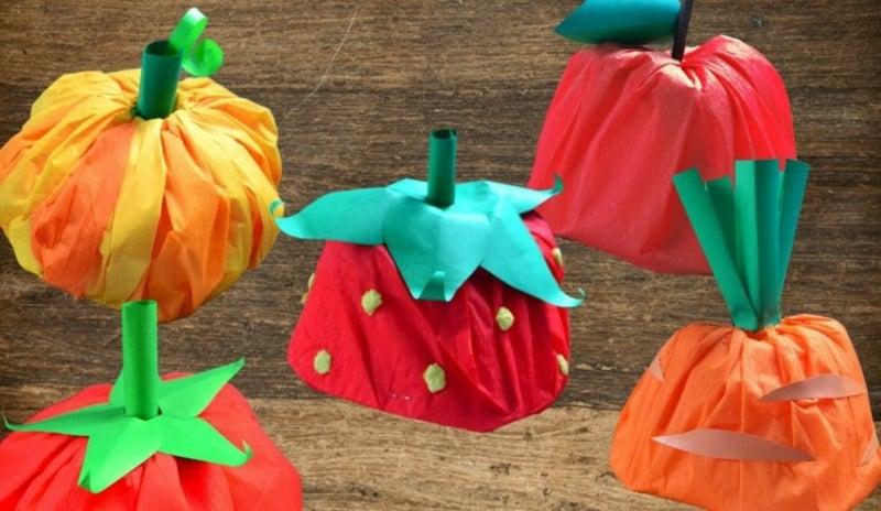 tolle Karnevalhüte Obst selbstgemacht