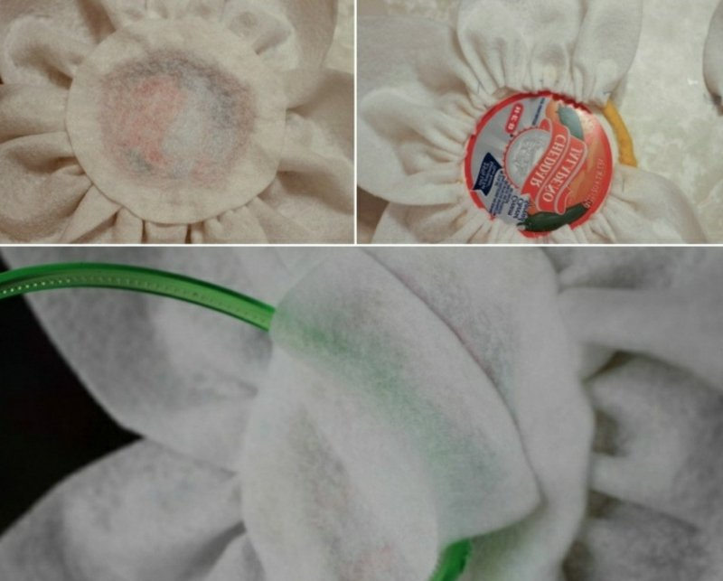 Faschingshüte basteln aus Stoff und Filz