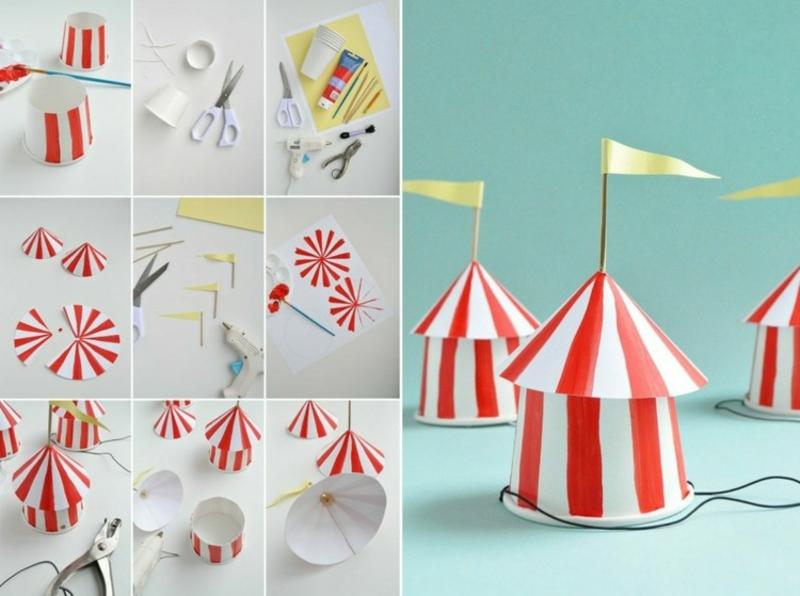 Karnevalshut aus Papier Zirkus Zelt